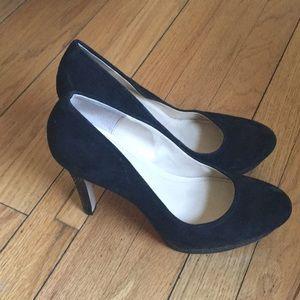 Black suede Calvin Klein Heels